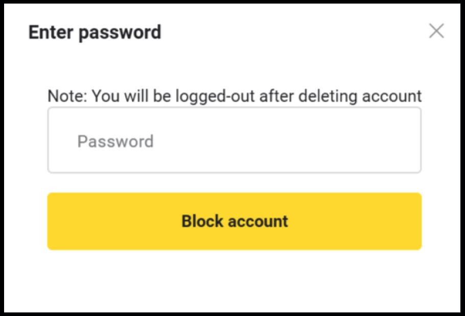 Binomo اکاؤنٹ کو بند اور بلاک کیسے کریں؟