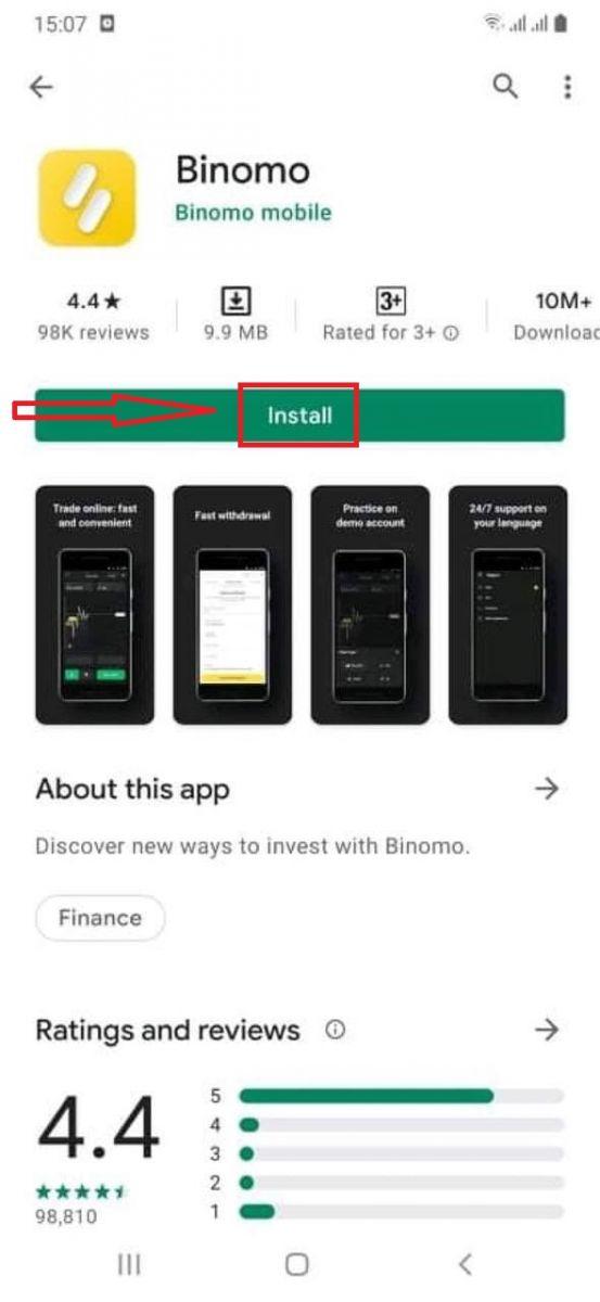 اکاؤنٹ کیسے بنائیں اور Binomo کے ساتھ رجسٹر کریں۔